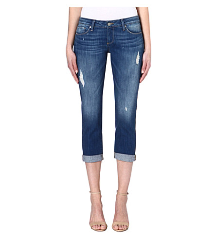 PAIGE DENIM Jimmy cropped slim-fit mid-rise jeans (Albany