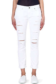 PAIGE DENIM Tyler distressed boyfriend mid-rise jeans