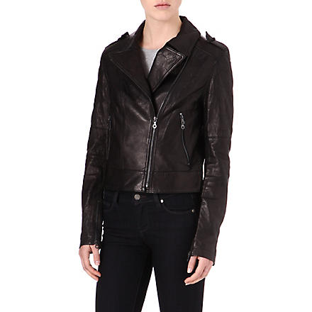 PAIGE DENIM Sacha leather jacket (Black