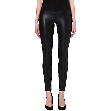 PAIGE DENIM Paloma faux-leather leggings (Black
