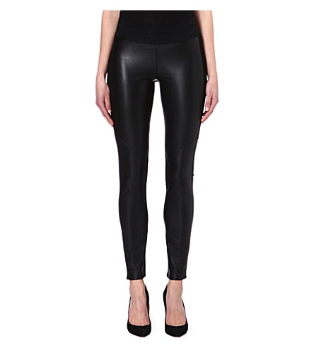 PAIGE DENIM Paloma faux-leather leggings (Black