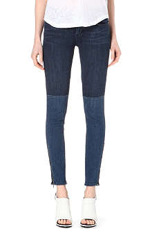 PAIGE DENIM Cara patchwork zipped jeans
