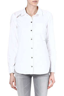 PAIGE DENIM Destructed denim shirt