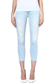 PAIGE DENIM Distressed cropped jeans