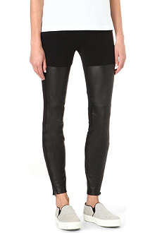 PAIGE DENIM Noa leather and jersey leggings