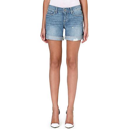 PAIGE DENIM Grant denim boyfriend shorts (Sunbaked