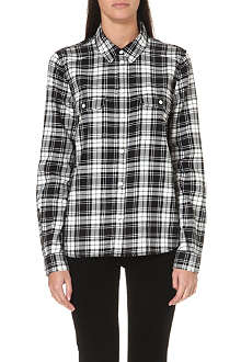 PAIGE DENIM Truly plaid cotton shirt