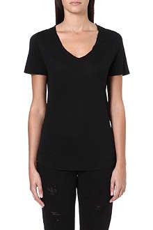 PAIGE DENIM Clea v-neck jersey t-shirt
