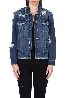 PAIGE DENIM Heidi distressed denim jacket