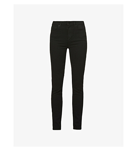 PAIGE DENIM Margot ultra-skinny high-rise jeans (Black+shadow