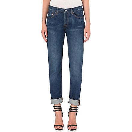 LEVI'S 501 boyfriend mid-rise jeans (Riverbed