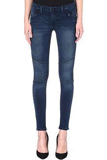 LEVI'S Moto zip-pocket skinny mid-rise jeans