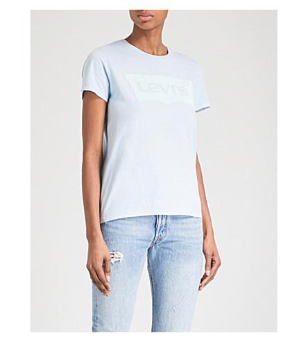 LEVI'S The Perfect cotton-jersey T-shirt (Better+pfd+blue