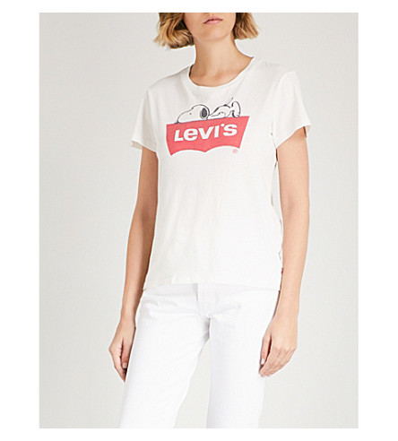 LEVI'S The Perfect cotton-jersey T-shirt (Snoopy+a+cloud+dancer