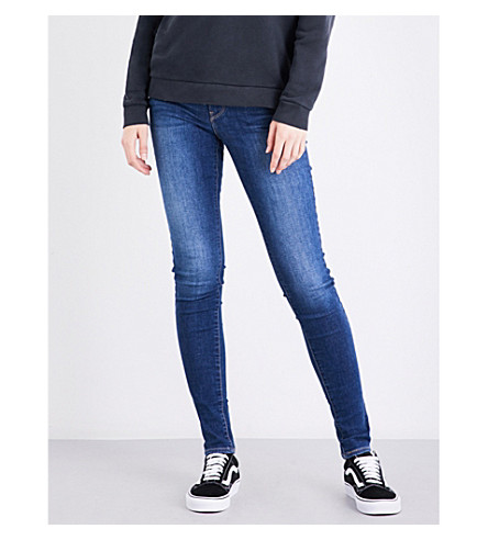LEVI'S 710 super-skinny mid-rise jeans (Frolic+blue