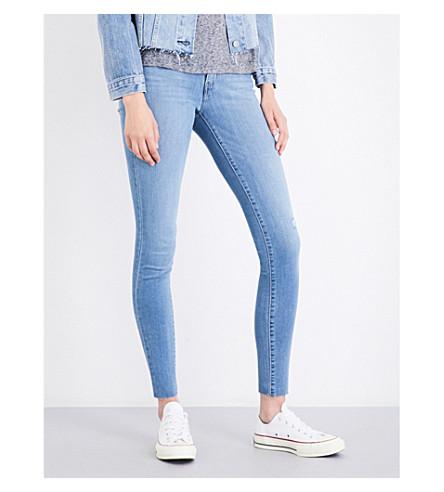 LEVI'S 710 super-skinny mid-rise jeans (Raindrop+blue