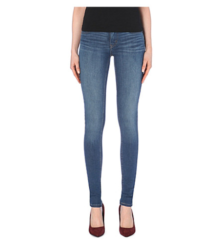 LEVI'S 710 Innovation super-skinny mid-rise jeans (Blue worn