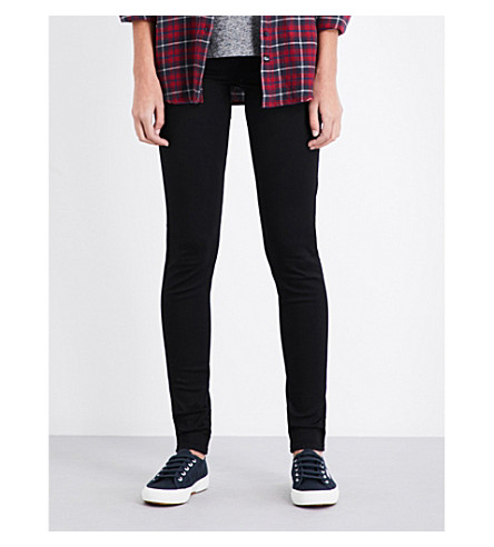 LEVI'S 710 Innovation super-skinny mid-rise jeans (Night