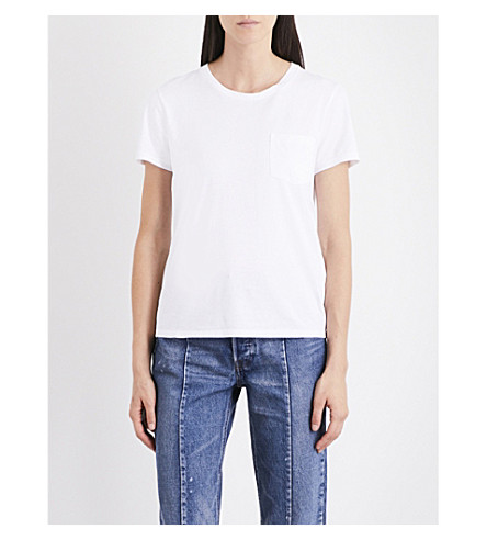 LEVI'S The Perfect Pocket cotton-jersey T-shirt (White