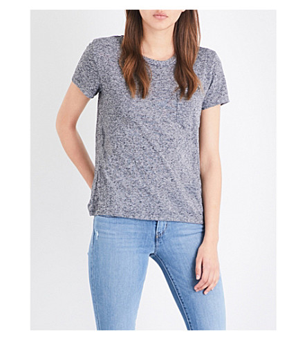 LEVI'S The Perfect Pocket cotton-jersey T-shirt (Francisco+sky+heather