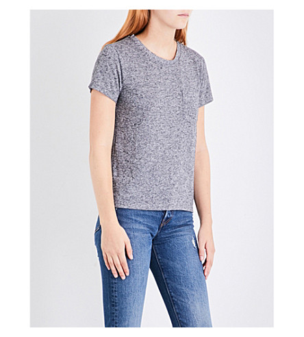 LEVI'S The Perfect Pocket cotton-jersey T-shirt (Francisco+sky+htr