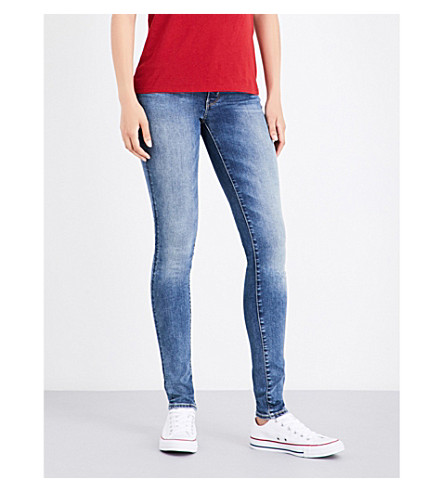 LEVI'S 711 skinny mid-rise jeans (Antiqued