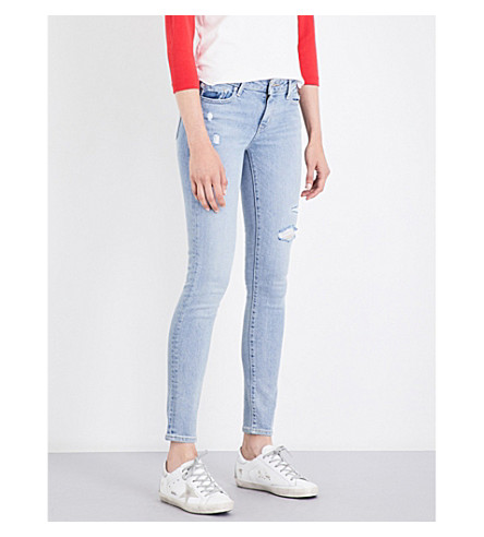 LEVI'S 711 skinny mid-rise jeans (Let's+run+away