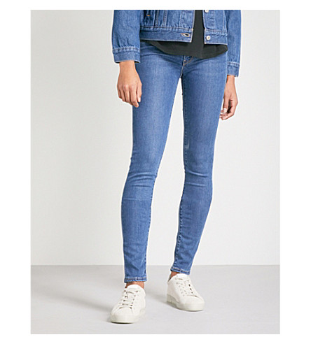 LEVI'S 711 skinny mid-rise jeans (Escape+artist
