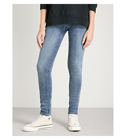 LEVI'S 711 skinny mid-rise jeans (Head+in+the+clouds