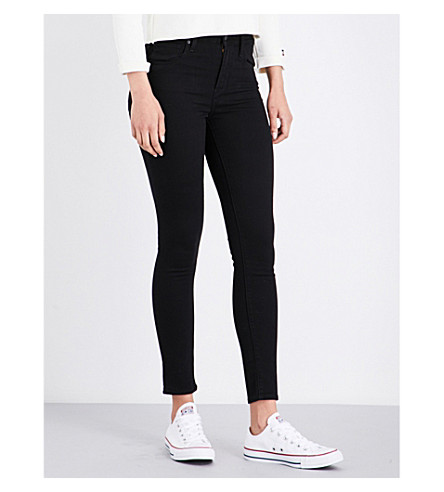 LEVI'S 721 super-skinny high-rise jeans (Black+sheep