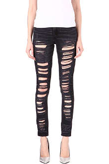 LEVI'S Shredded skinny high-rise jeans