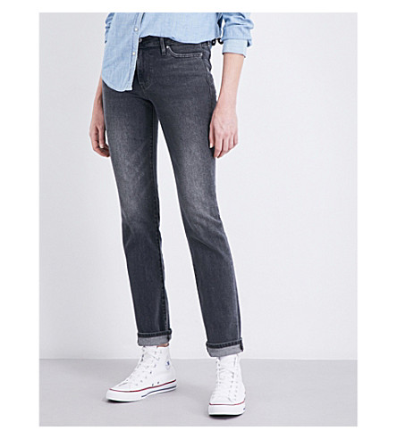 LEVI'S 714 straight mid-rise jeans (Partys+over