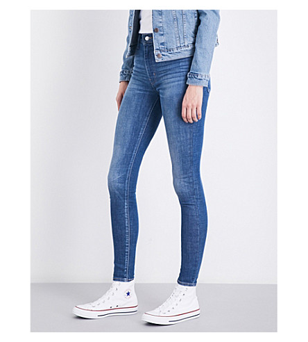 LEVI'S Mile High super-skinny high-rise jeans (Shut+the+front+door