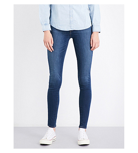 LEVI'S Mile High skinny high-rise jeans (Lonesome+trail