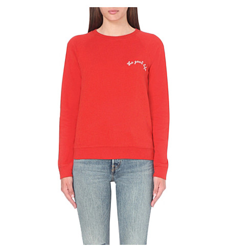 LEVI'S The Good Life cotton-jersey sweatshirt (Cherry bomb