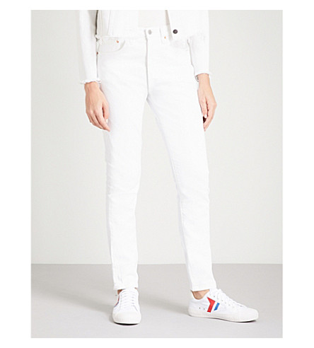 LEVI'S 501 slim-fit skinny high-rise jeans (In+the+clouds