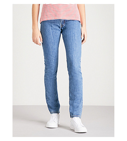 LEVI'S 501 skinny mid-rise jeans (Rolling+dice