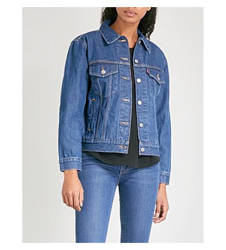 LEVI'S Caine artist-print trucker denim jacket (Blue