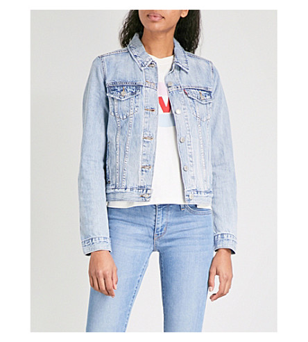 LEVI'S Original trucker distressed denim jacket (All+yours