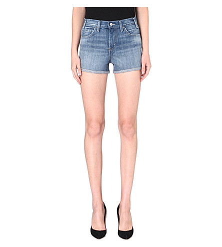 LEVI'S High-rise denim shorts (Seabed
