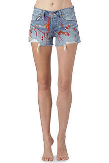 LEVI'S Navajo embellished denim shorts