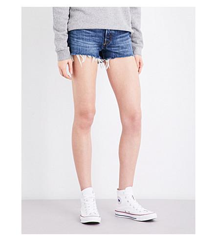 LEVI'S 501 frayed-hem denim shorts (Echo+park