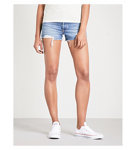 LEVI'S 501 cut-off mid-rise denim shorts (Back+to+your+heart