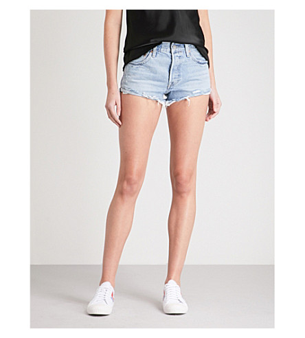 LEVI'S 501 distressed denim shorts (Tune+into+you