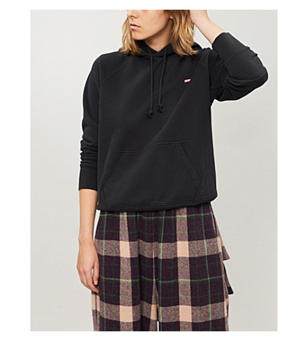 LEVI'S Relaxed-fit cotton-jersey hoody (Caviar