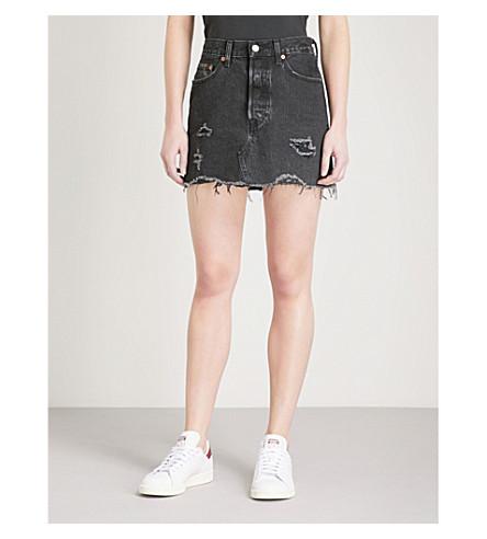 LEVI'S Deconstructed high-rise denim skirt (Gimme+danger
