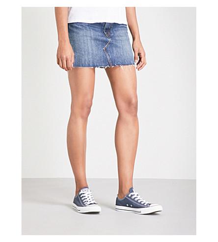 LEVI'S Deconstructed mid-rise denim skirt (Beetlebum