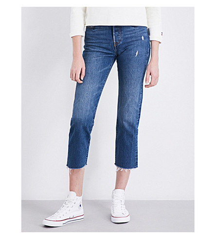 LEVI'S Wedgie straight high-rise denim jeans (Lasting+impression