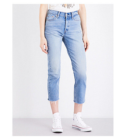LEVI'S Wedgie-fit straight high-rise jeans (Rough+tide
