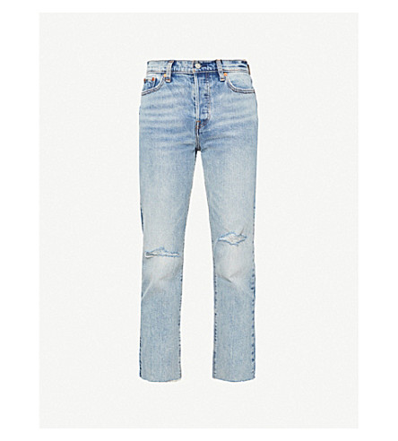 LEVI'S Wedgie high-rise straight jeans (In two minds